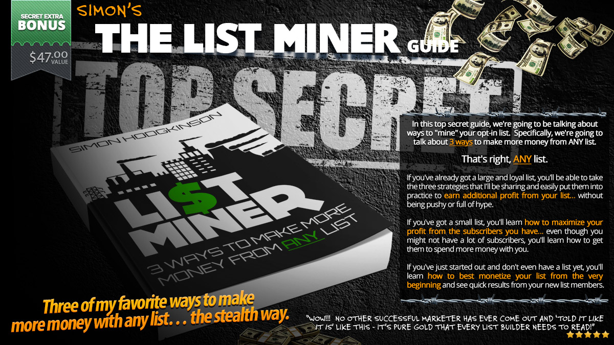 BONUS#1 Get The List Miner